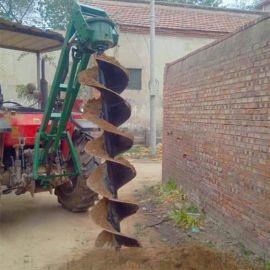 酒泉螺旋钻孔机电线杆挖坑机视频
