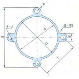 SI铝合金米字形气缸管(J008)