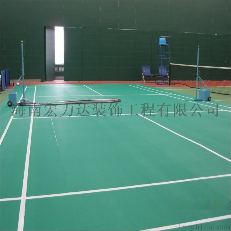 PVC材质地板胶,弹性塑料轻体球场,宏利达专注地坪
