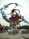 上海零爵厂家嫦娥奔月雕塑造型定制