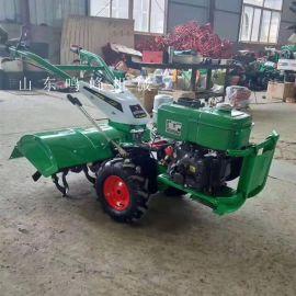 果园开沟水冷柴油微耕机,旋耕松土小型手扶微耕机