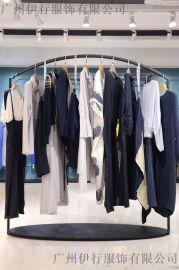 羽纱国际杭州女装尾货批发折扣女装 厂家尾货服装批发金色衬衫