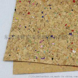 厂家直销 箱包装饰软木布料 环保软木革 免费拿样