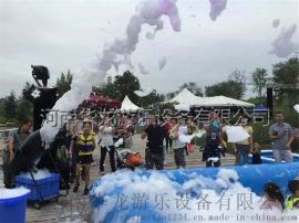 网红泡沫机大型喷射式泡沫机泡泡油水上乐园泡沫机