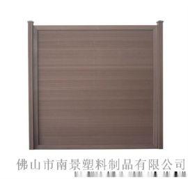 PS防腐塑木复古移动组合式屏风隔断