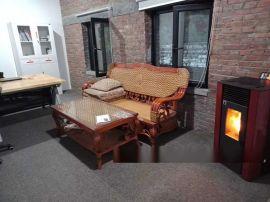 办公室颗粒取暖炉 冬季智能风暖炉 生物质颗粒采暖炉