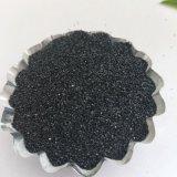 噴砂除鏽黑色石英砂,高硬度金剛砂銷售磨具磨料專用