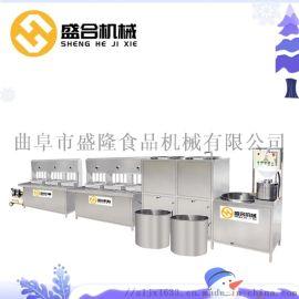 盛合全自动干豆腐机 山东潍坊千张豆腐皮机器十年保修