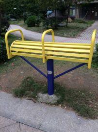 广西名扬健身器材双联伸腰器百色市民广场安装