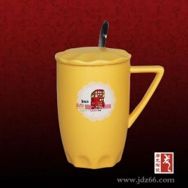 帝瑶新款卡通马克杯,定做特色陶瓷咖啡杯带盖奶茶杯