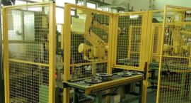 刹车盘CNC加工机床上下料机器人|CNC机械手-数控机床机械手