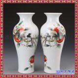 景德鎮陶瓷粉彩花鳥花瓶冬瓜瓶 現代博古架裝飾擺件