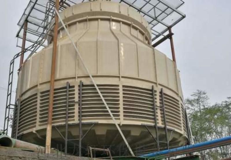 加厚型冷却塔 工业标准圆形逆流式玻璃钢冷却塔