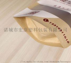 茶叶坚果牛皮纸自立透明拉链袋
