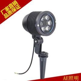 AE照明LED草坪灯户外公园防水插地投光灯圆形草坪灯聚光庭院灯