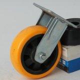 6寸工業聚祿定向腳輪 靜音定向輪腳輪 耐磨定向手推車輪子批發