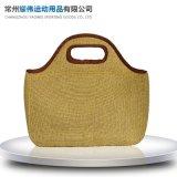 手提午餐包便当包 户外野餐包 潜水料麻布午餐包 质量保障