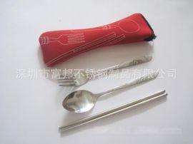 特价销售环保餐具,梅花勺,叉子,布袋餐具三件套