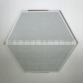 定制造型铝扣板天花吊顶 墙面装饰氟碳土豪金梯形冲孔铝扣板
