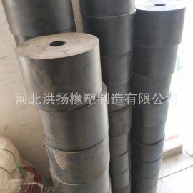 防撞橡膠膠墩 防震橡膠柱 耐磨實心高彈橡膠減震器