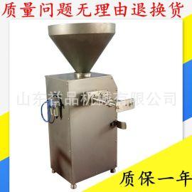 食品不锈钢气动自动扭结定量灌肠机可与各种打卡机关联真空灌肠机