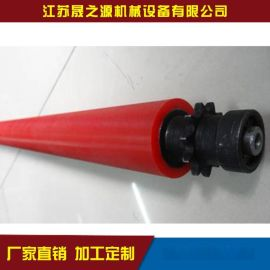 现货供应聚氨酯滚筒张家港厂家定做型材料架动力聚氨酯耐磨滚筒
