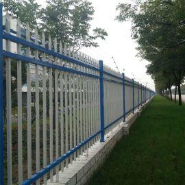 石家庄小区防护栅栏 定制1.2米高锌钢围墙护栏 别墅防锈铁艺围
