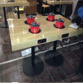 供应触摸式电磁炉火锅桌 无  锅桌/大理石火锅桌