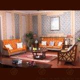 英伦油蜡真皮沙发实木茶几客厅组合 欧美式别墅实木沙发直销包邮