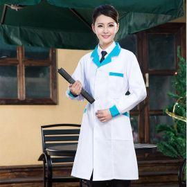 護士服醫師服職業裝白大褂 藥店大藥房醫護長款大褂