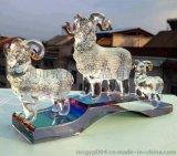 水晶羊年礼品  办公摆件定做  水晶笔筒