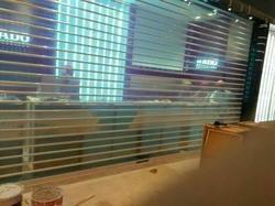 郑州不锈钢通花卷帘门,水晶透明卷帘门,银行  专用卷闸门