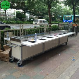 深圳回转火锅设备哪里有卖  夜市串串香麻辣烫推车