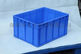 塑料箱带盖箱加厚塑料周转箱工具箱 斜插式物流运输箱