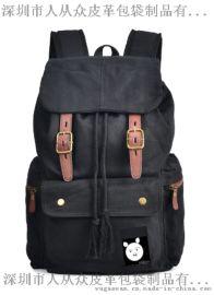enkoo+CRA811+双肩帆布背包