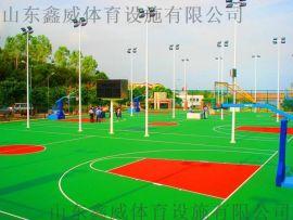 山东硅PU篮球场山东硅Pu球场,丙烯酸球场塑胶球场