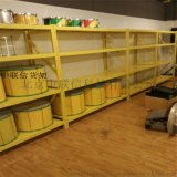 黃色倉儲貨架 北京貨架家用置物架 庫房儲藏架 兩米高糧油雜物架 定製