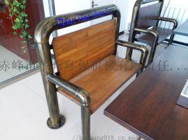 很久以前烧烤椅子,很久以前老榆木钢管椅子