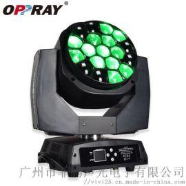 LED 19顆蜜蜂眼四合一光束染色搖頭燈