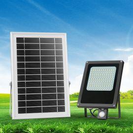 N500F 家用太阳能人体感应灯 户外高亮度防水LED泛光灯