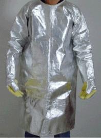 铝箔隔热反穿衣 ,1000度隔热大衣 ,锅炉隔热防护服