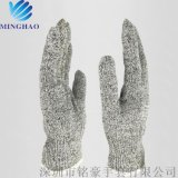 铭豪 厂家直销迪尼玛防割手套芯 高强聚乙烯手套 10针工业级手套 SML均有货