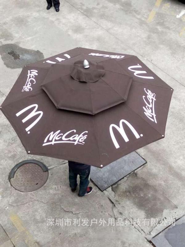 中柱傘換布麥當勞中柱傘換進口傘布