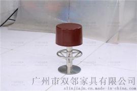 玻璃钢餐凳,餐厅玻璃钢圆凳吧凳广州双邻供应