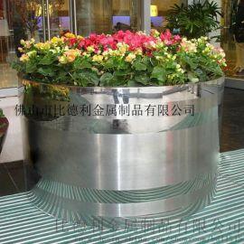 供应不锈钢花盆定做花钵花箱花坛