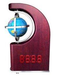 木制哑光钢琴漆数码时钟