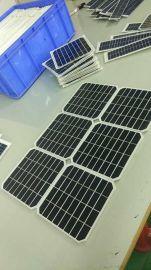 定制  单晶太阳能电池板  批发热销 太阳能玻璃板 户外灯太阳能板
