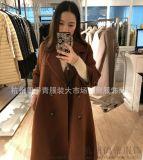 高档大衣阿尔巴卡品牌折扣店批发100件起批常年供应女装批发加盟