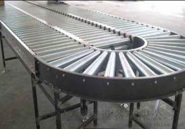 箱包流水线用滚筒输送机高承重碳钢喷塑 线和转弯滚筒线