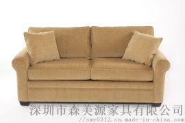 北欧简约布艺沙发单二人双人两人小型公寓小户型沙发